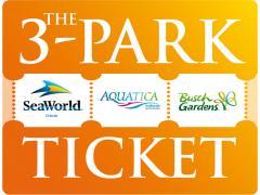 3 Park SeaWorld Aquatica and Busch Gardens Ticket SeaWorld